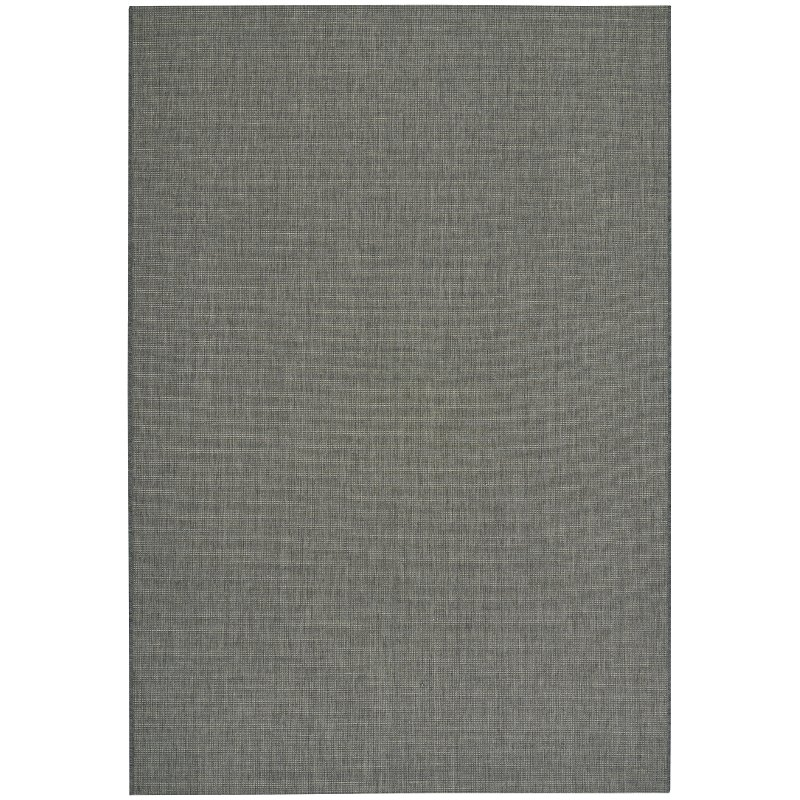 8 X 11 Large Charcoal Gray Indoor Outdoor Rug Weatherwise