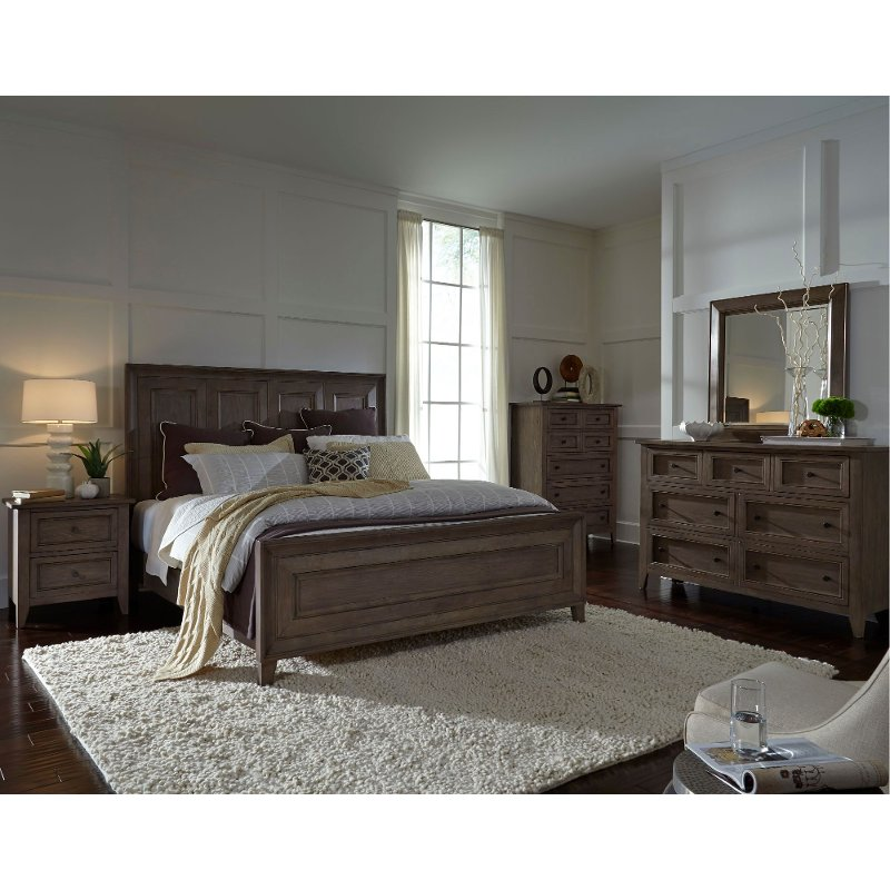Driftwood Classic Shaker 6 Piece King Bedroom Set