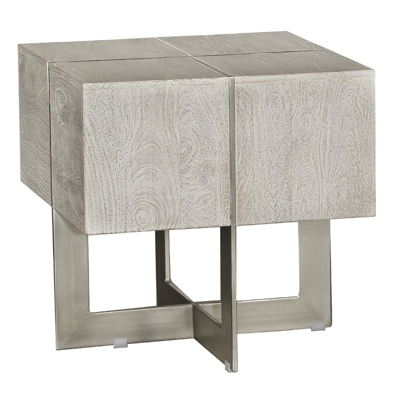 Contemporary Whitewash End Table - Desmond - Contemporary Whitewash End Table - Desmond RC Willey Furniture Store