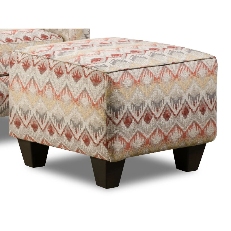American Furniture Warehouse Mail: Loxley Southwest Upholstered Casual Accent Ottoman