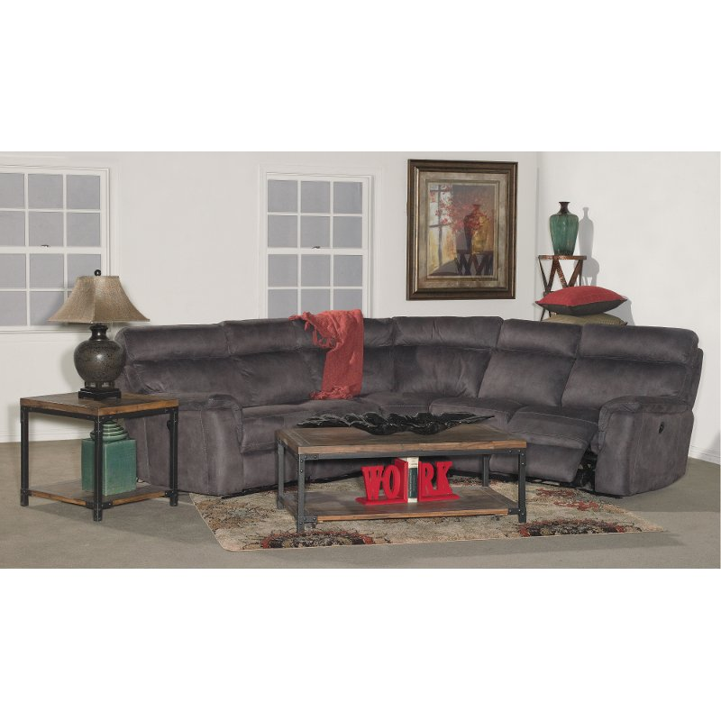 Gray 5 Piece Power Reclining Sectional Sofa - Maci | RC Willey ...