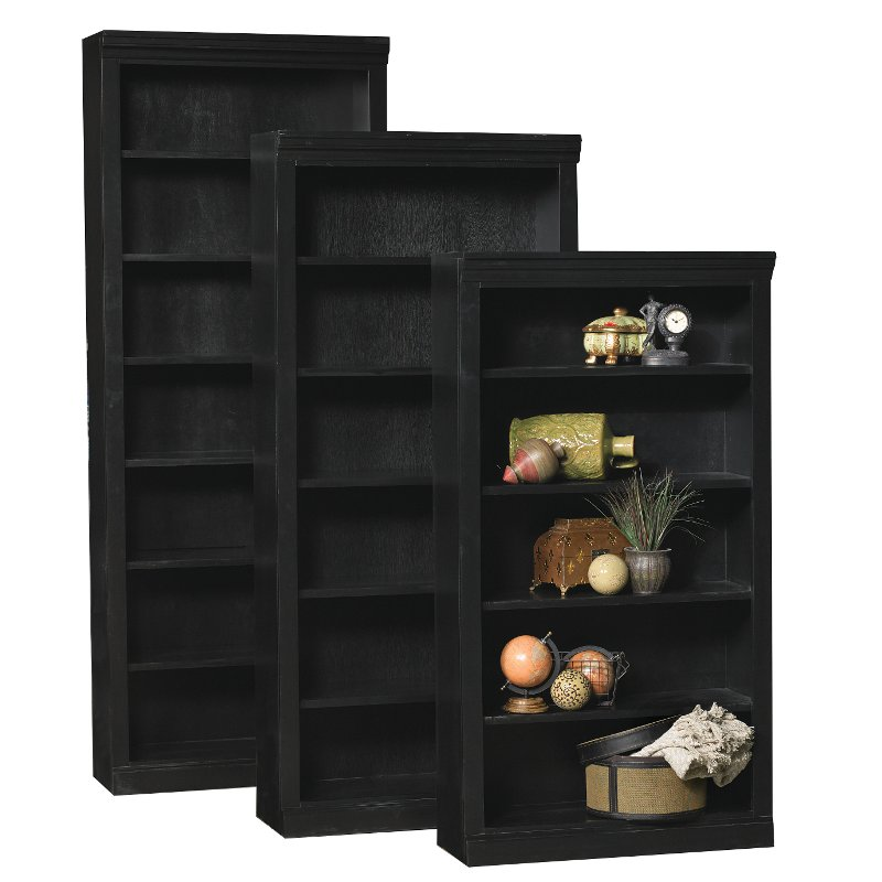 60 Inch Modern Black Bookcase | RC Willey Furniture Store
