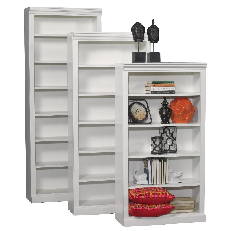 72 Inch White Contemporary Bookcase Rc Willey Furniture Store