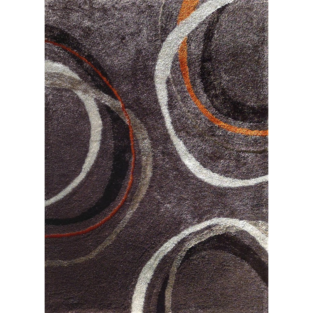 5 X 7 Medium Mocha Gray And Orange Area Rug Lola Rc Willey