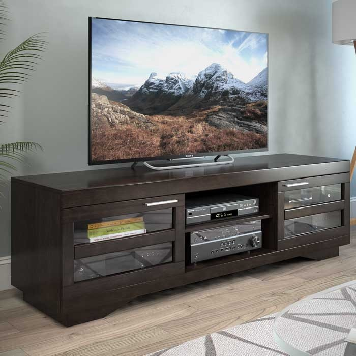 new product 81b0c 314db Mocha Brown 65 Inch TV Stand - Granville