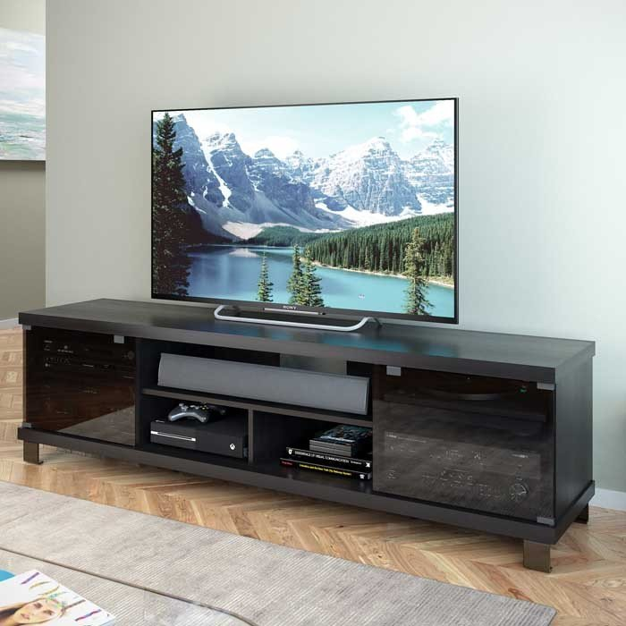 Black Extra Wide 70 Inch Tv Stand Holland Rc Willey Furniture Store