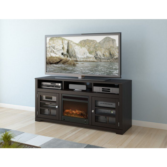 Mocha Black 60 Inch Fireplace Tv Stand West Lake Rc Willey