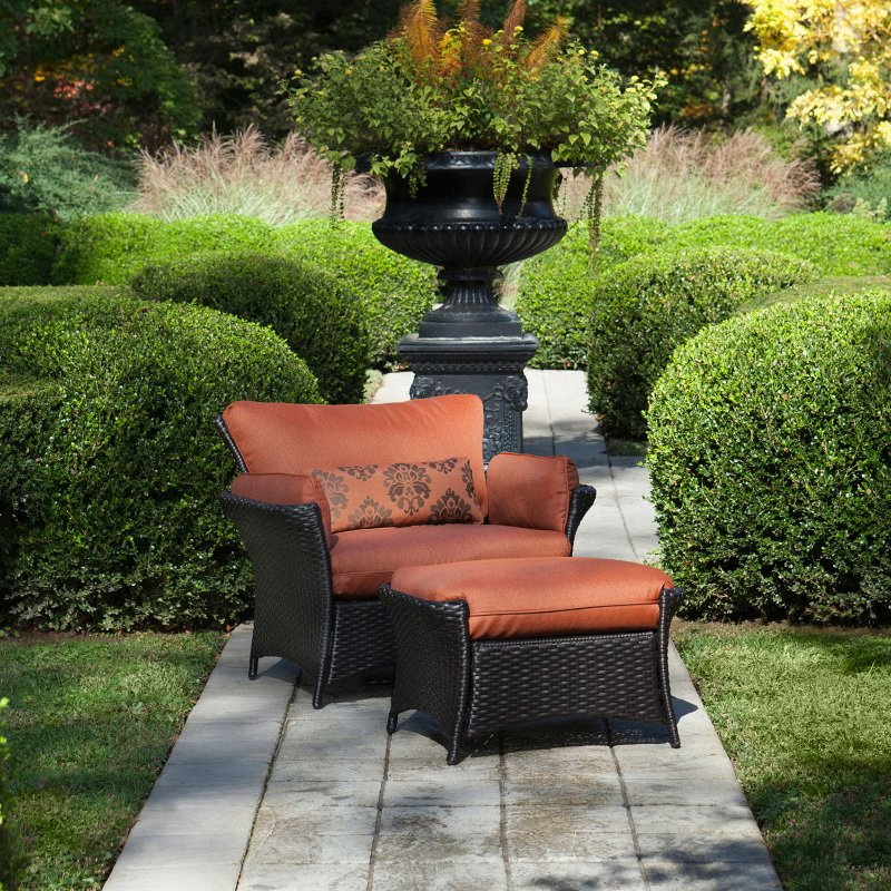 Outdoor Oversized Armchair & Ottoman - Strathmere Allure ...