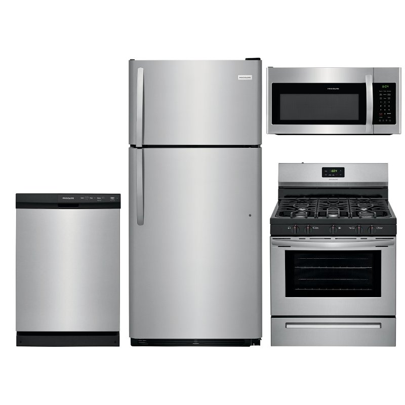 Frigidaire 4 Piece Kitchen Appliance Package with Gas Range ...