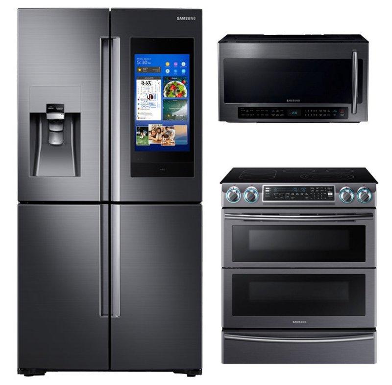 Samsung Kitchen Appliance Package: Samsung 3 Piece Kitchen Appliance Package With 5.8 Cu.ft