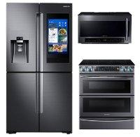 Samsung black stainless steel 3 piece kitchen appliance - 3 piece kitchen appliance package ...