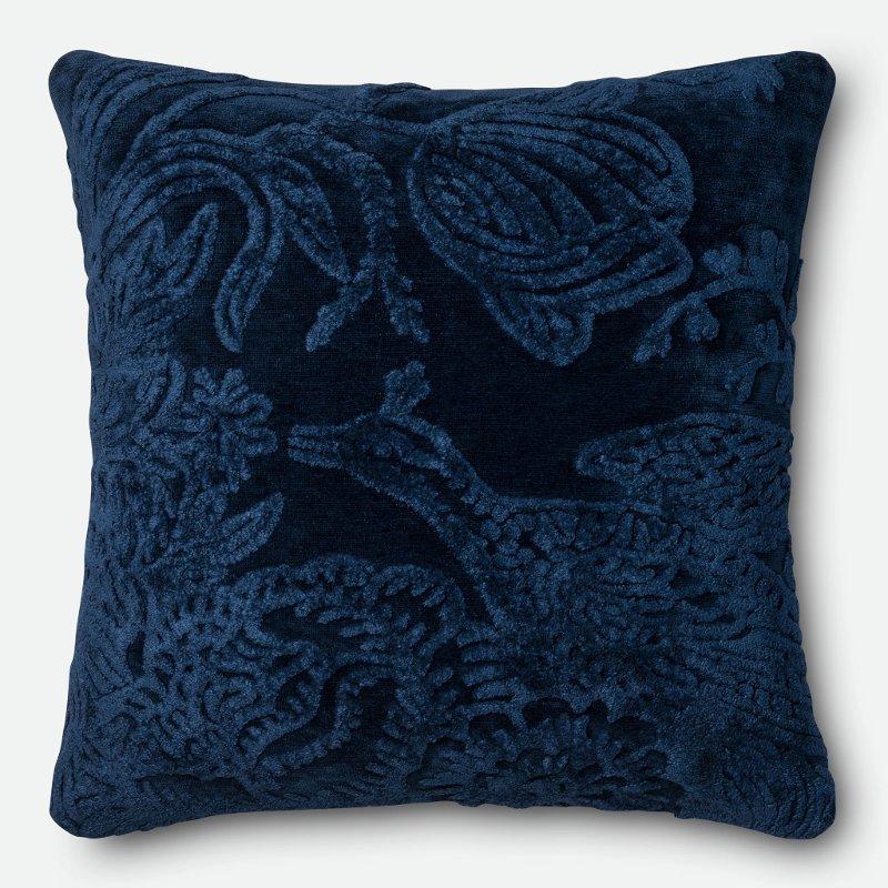 Rc Willey In Salt Lake City: Indigo Textured Throw Pillow
