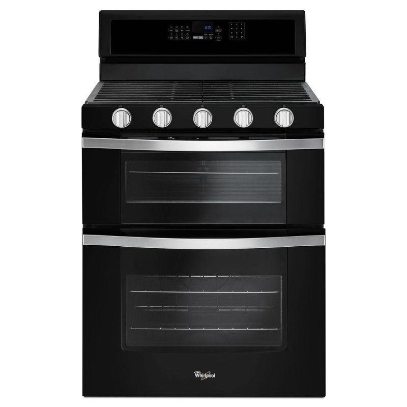 Whirlpool Double Oven Gas Range 60 Cu Ft Black Rc Willey