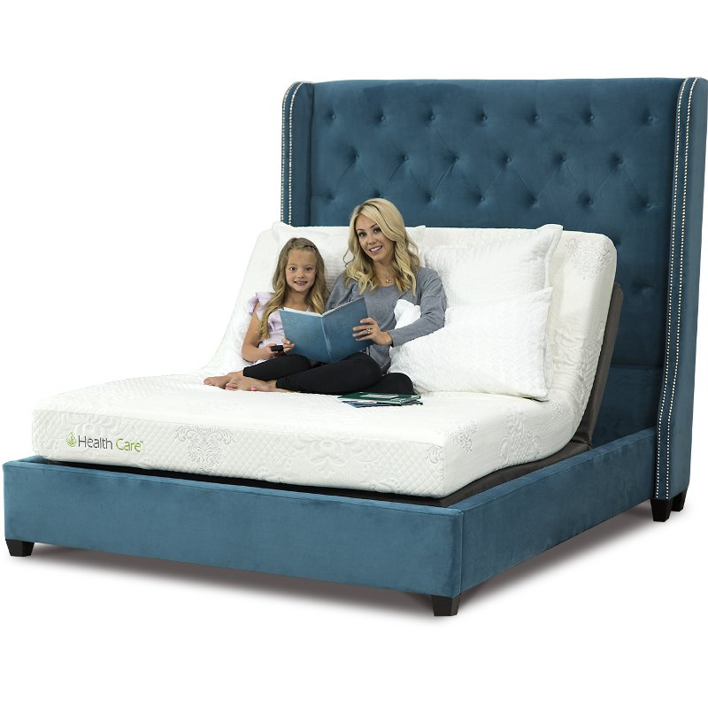 Memory Foam Queen Mattress With Adjustable Base   RC Willey Furniture Store
