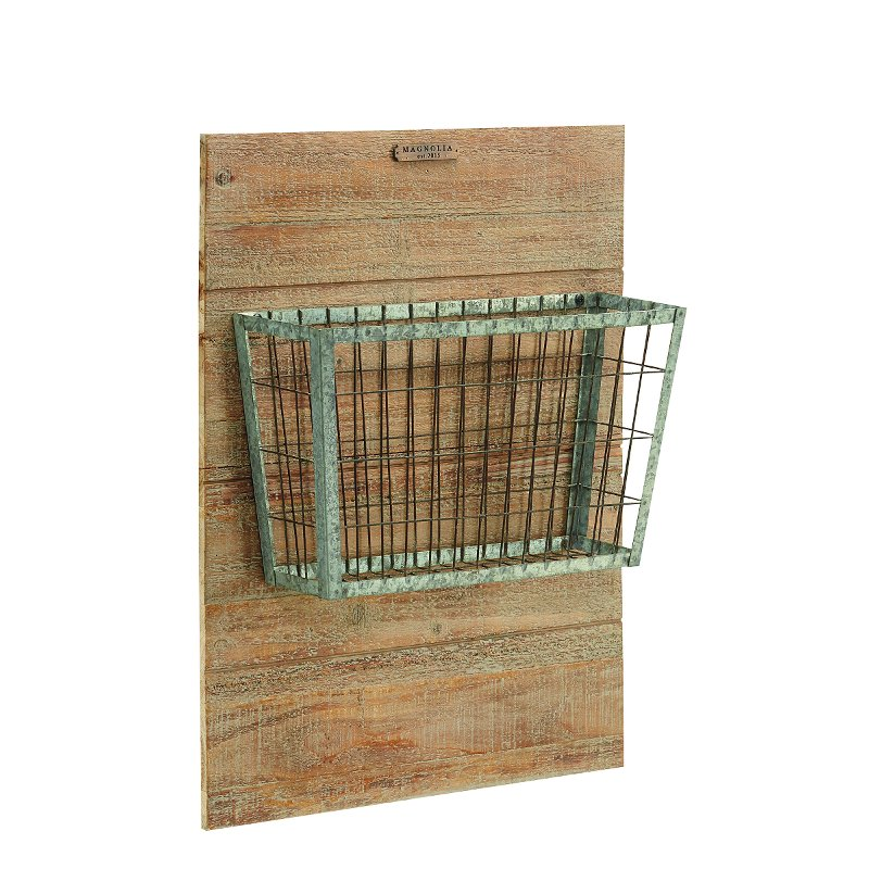Floor Decor And More Rocklin Ca: Magnolia Home Furniture Metal Basket On Wood Mount