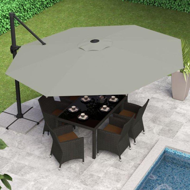 Sandy Gray Deluxe Offset Patio Umbrella - Sandy Gray Deluxe Offset Patio Umbrella RC Willey Furniture Store