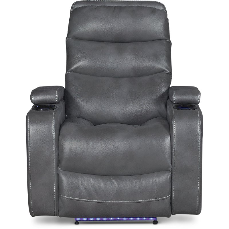 Slate Gray Power Home Theater Recliner Cinema Rc