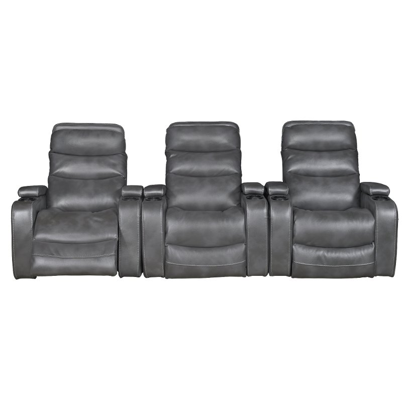 Slate Gray 3 Piece Home Theater Seating Nicholas Rc Willey Furniture