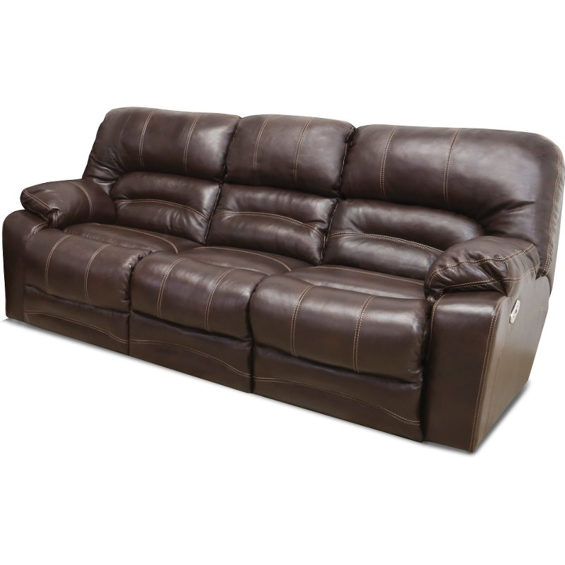 Chocolate Brown Leather Match Power Reclining Sofa   Legacy | RC Willey  Furniture Store