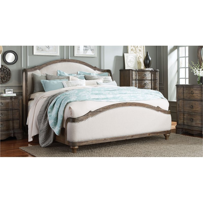 Havana Off-White Upholstered Queen Bed - Parliament | RC Willey ...