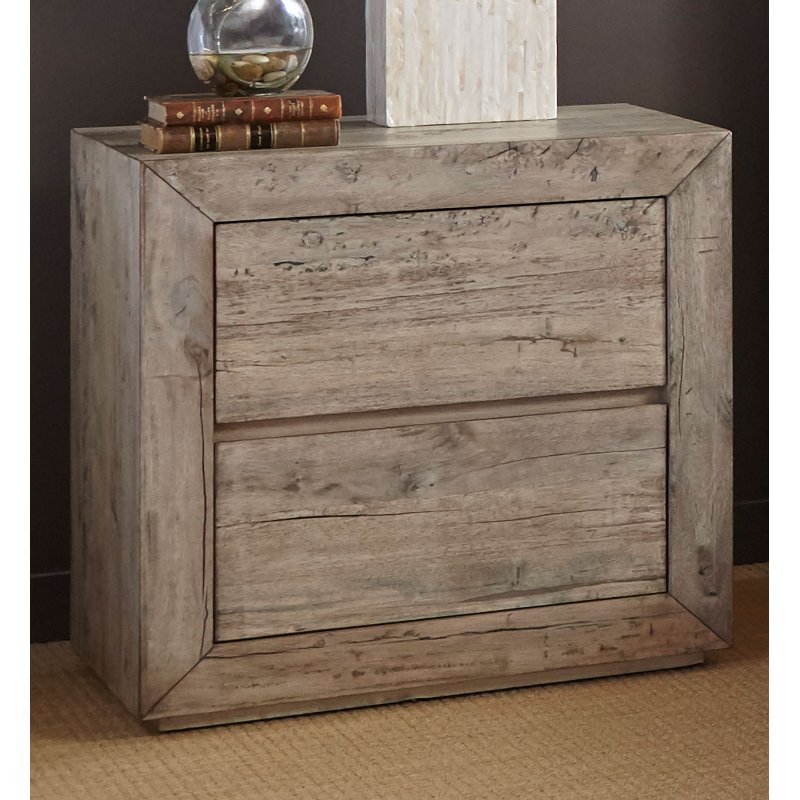 White Washed Modern Rustic Nightstand