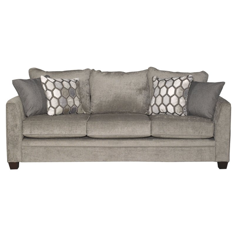 Willey Furniture: Modern Hearth Gray Sofa - Kimmy