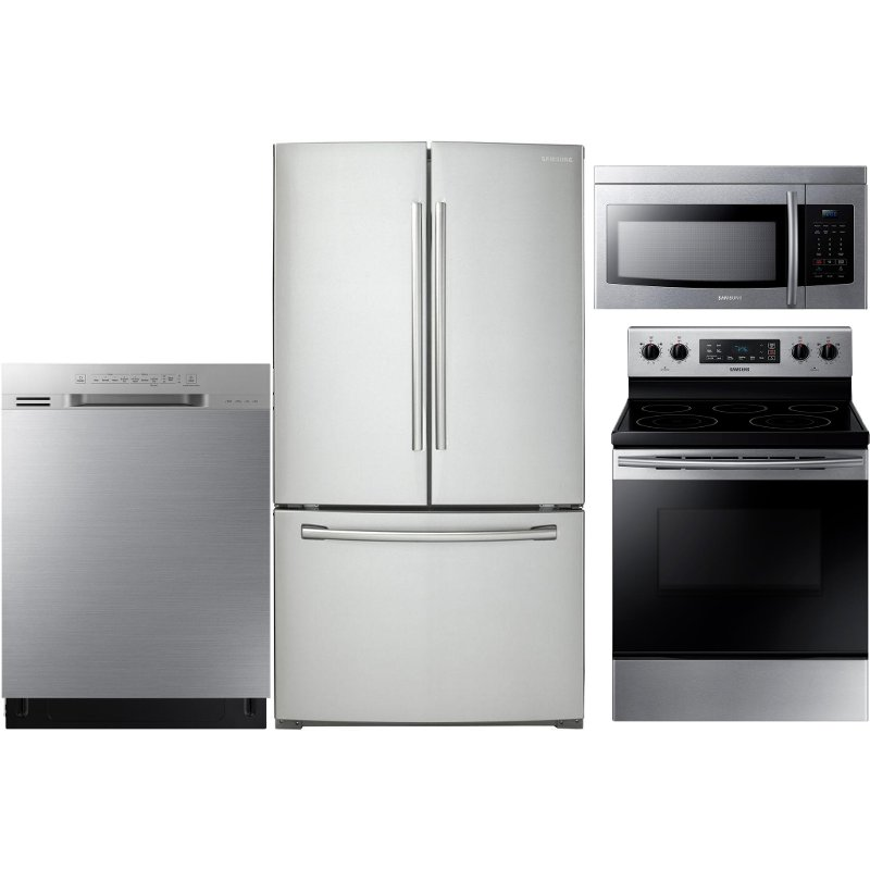 samsung 4 piece kitchen appliance package with electric range rh rcwilley com 4 piece stainless steel kitchen appliance package samsung lg 4 piece stainless steel kitchen appliance package
