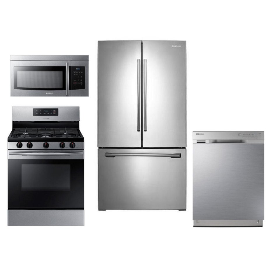Samsung 4 Piece Gas Kitchen Appliance Package With French Door