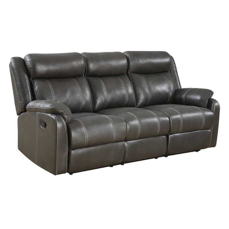 Valor Carbon Gray Dual Reclining Sofa Domino Rc Willey
