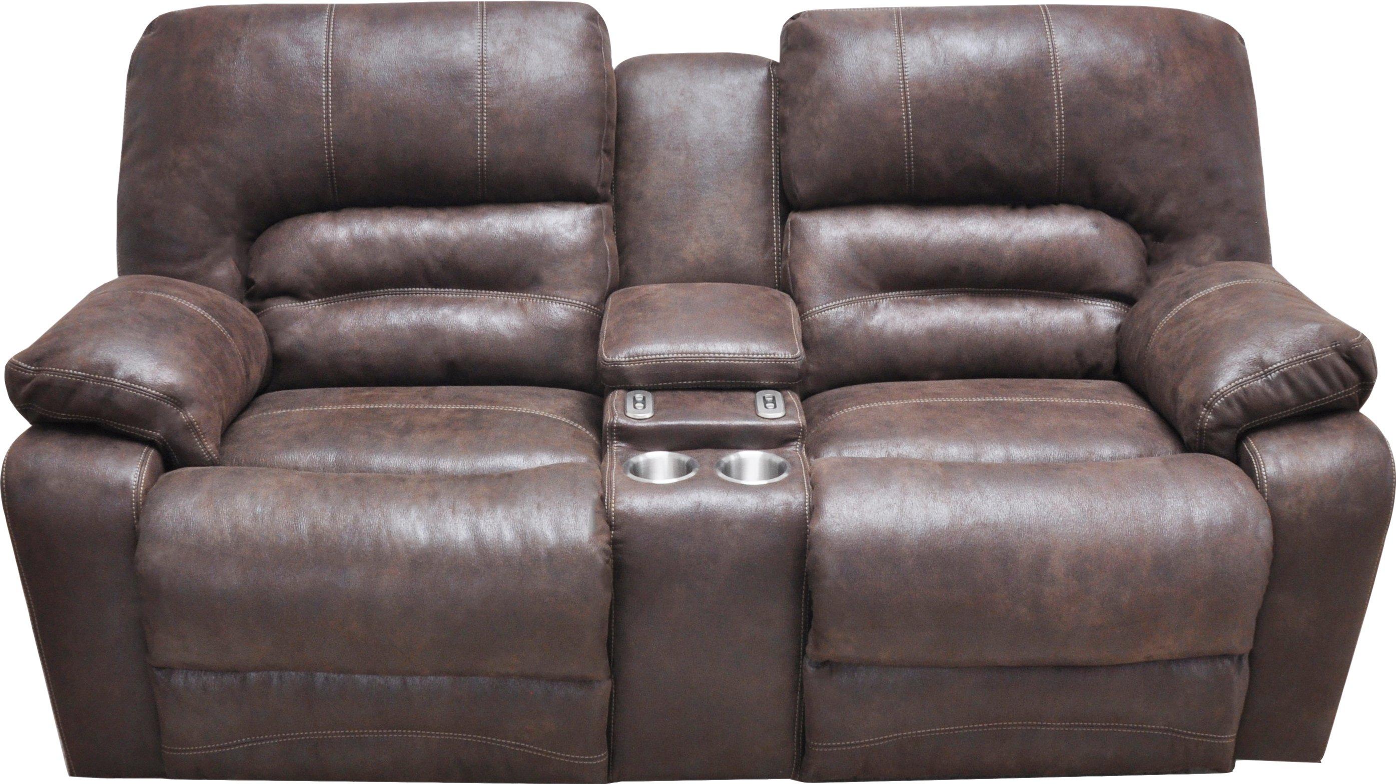 Chocolate Brown Microfiber Power Reclining Sofa Loveseat