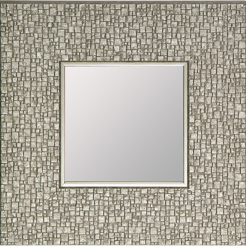 Rc Willey Salt Lake: Square Textured Silver Framed Mirror