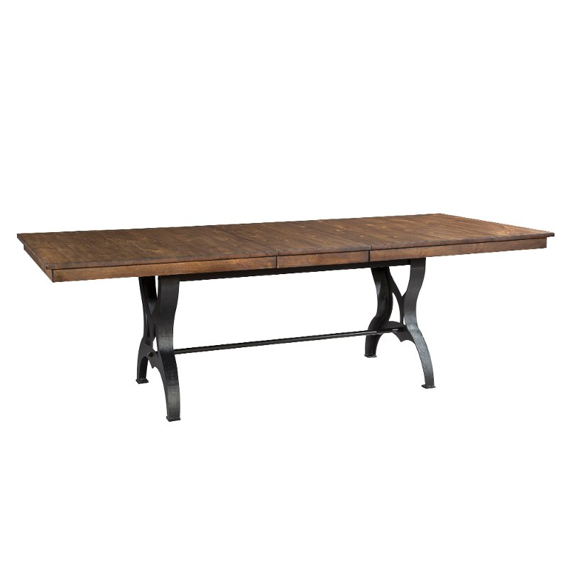 Merveilleux Solid Birch And Metal Dining Table   District