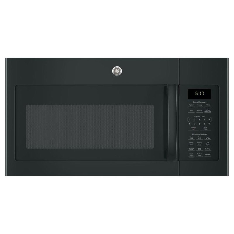 Ge Over The Range Microwave 1 7 Cu Ft Black Rc Willey Furniture