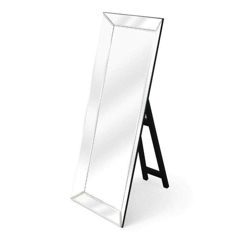 Standing Floor Mirror With Black Easel