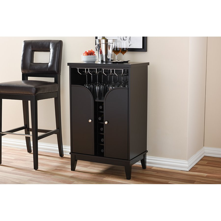Exceptionnel Dark Brown Wood Dry Bar/ Wine Cabinet   Easton | RC Willey Furniture Store