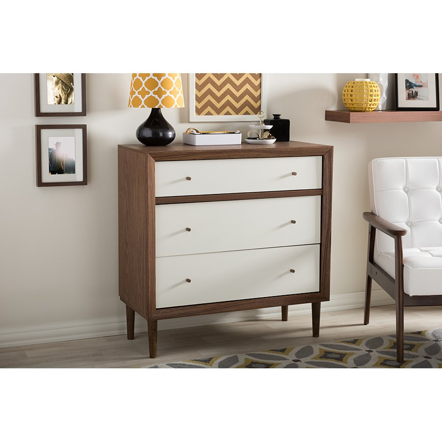 Modern Two-Tone 3-Drawer Chest - Harlow