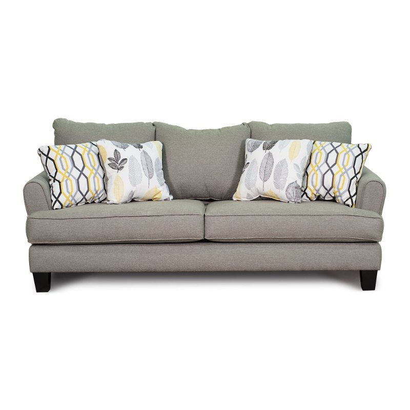 Casual Contemporary Stone Gray Sofa - Bryn