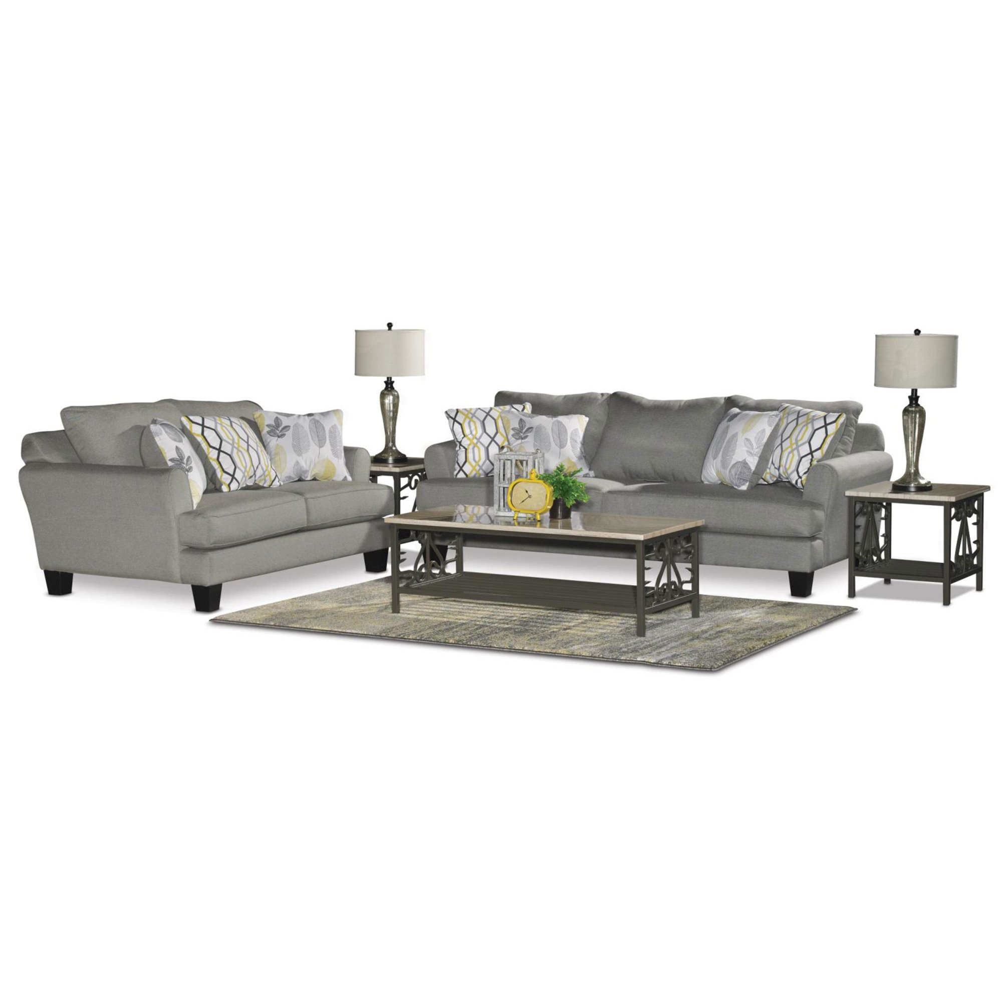 Attirant Casual Contemporary Gray 7 Piece Living Room Set   Bryn | RC Willey  Furniture Store