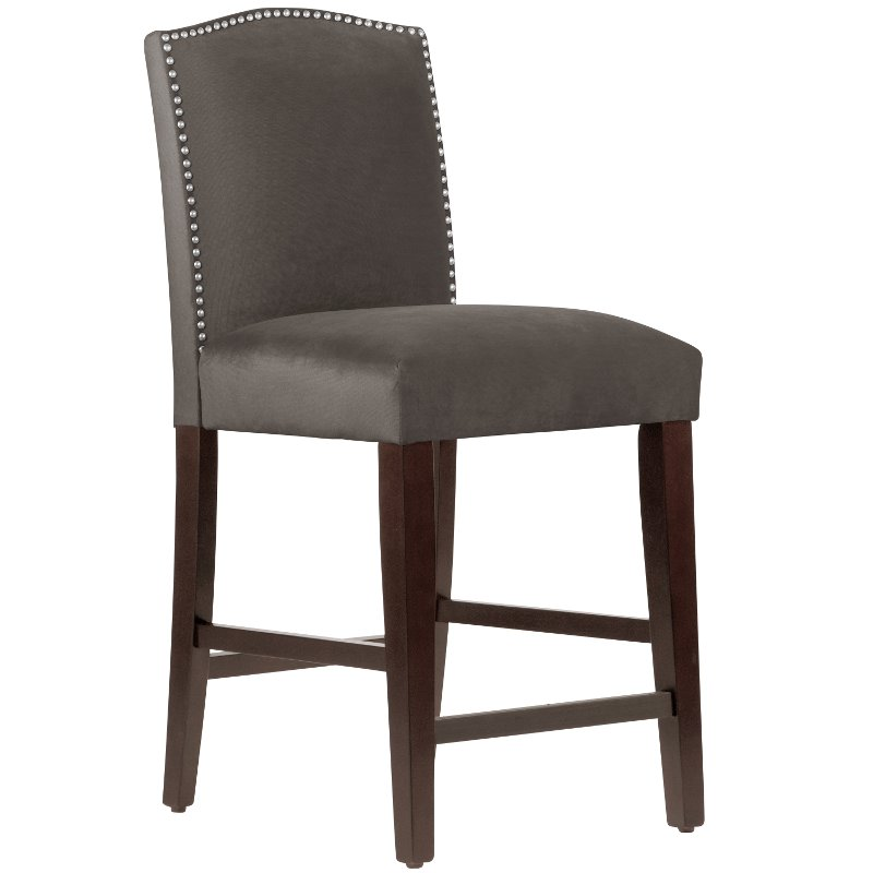Mystere Cosmic Nail Button Arched Back Counter Stool