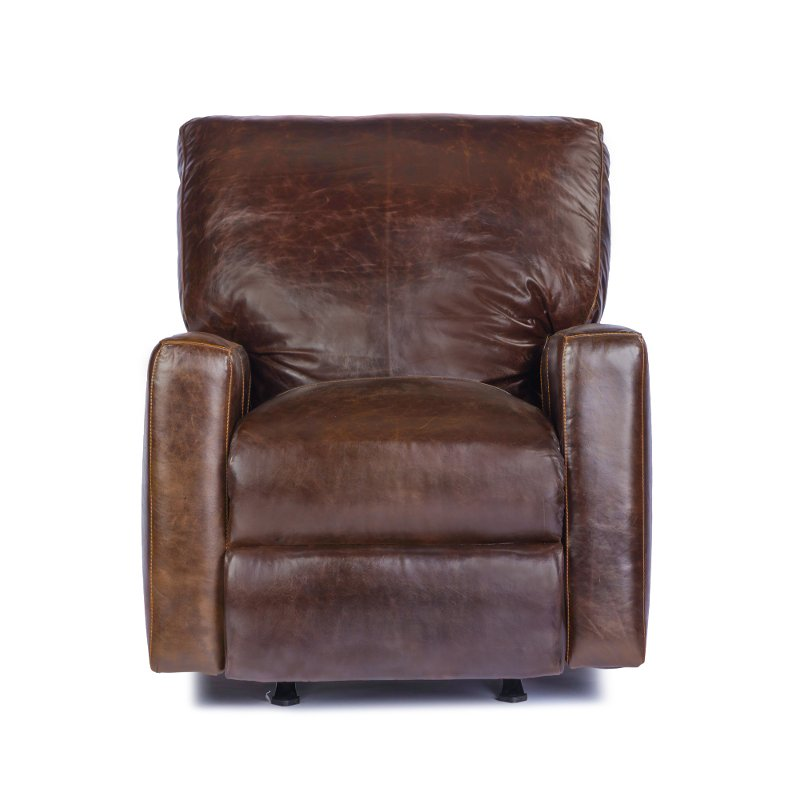 Tobacco Brown Leather Power Recliner   Mayfair