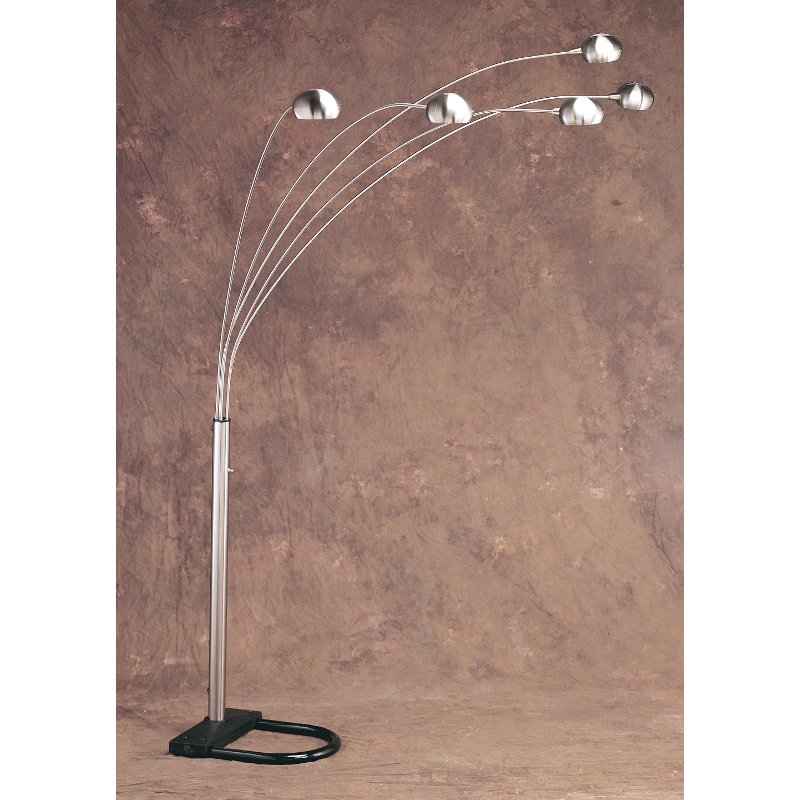Chrome 5 Arm Arc Floor Lamp Rc Willey Furniture Store