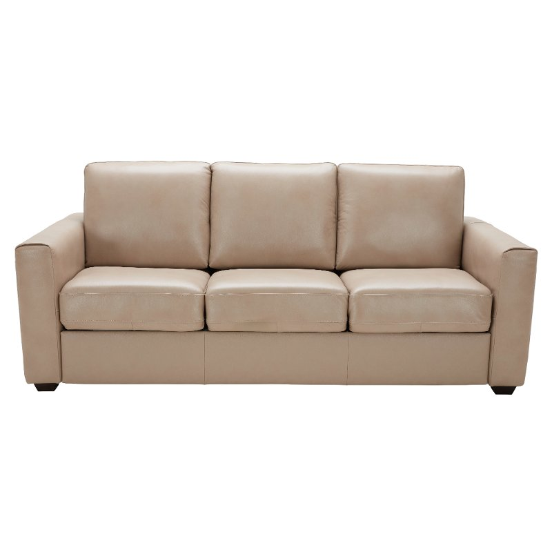 Does Sofa And Loveseat Have To Match: Tan Leather-Match Queen Sofa Bed - Denver