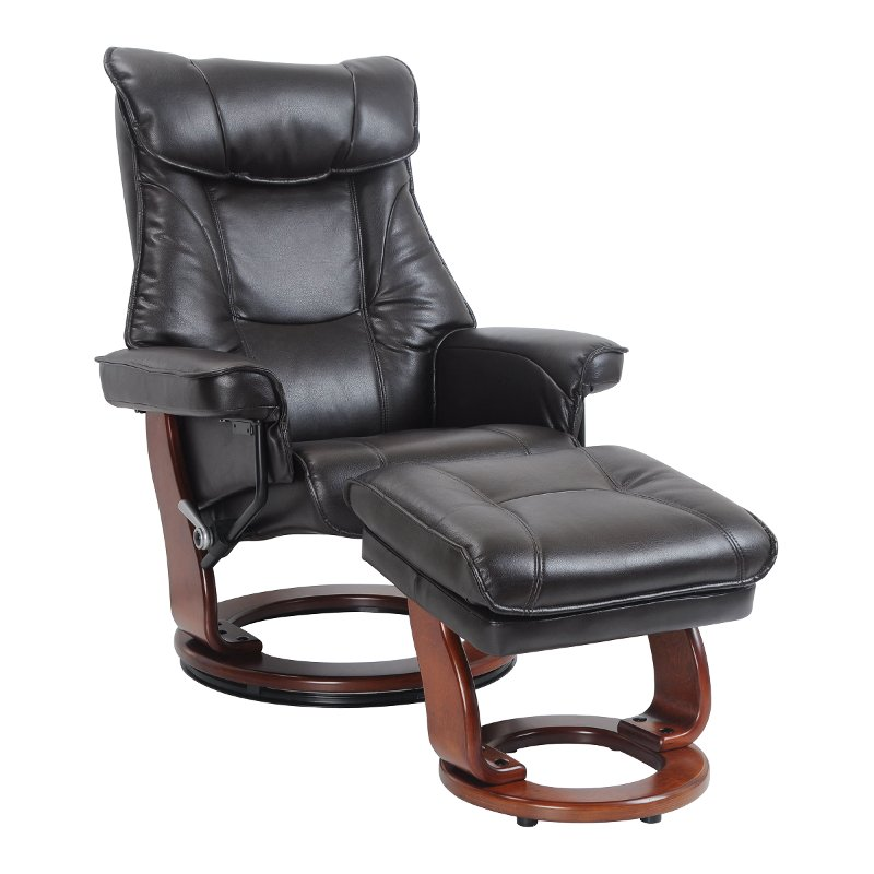 Fabulous Augusta Java Brown Swivel Recliner Ottoman Stress Free Pabps2019 Chair Design Images Pabps2019Com