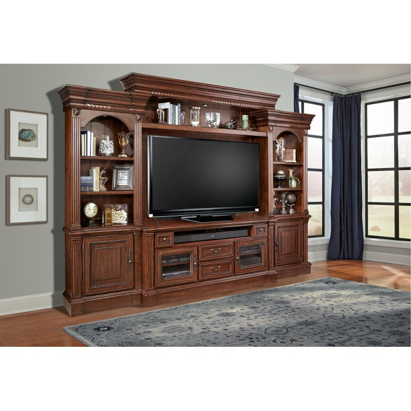 Rc Willey Stores: Umber Brown 4 Piece Traditional Entertainment Center