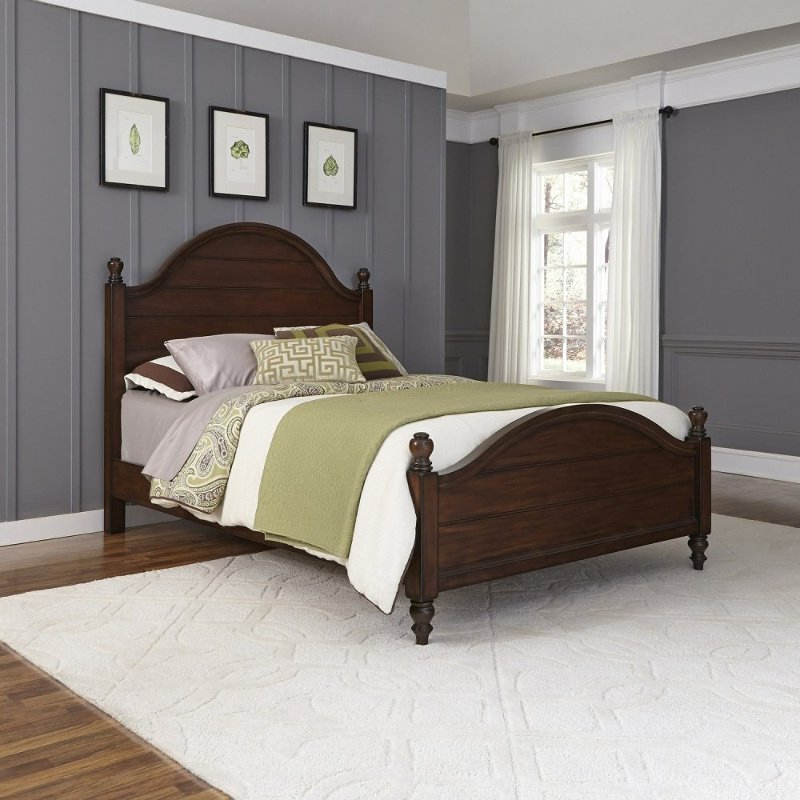 Farmhouse Classic Mahogany Queen Bed Country Comfort