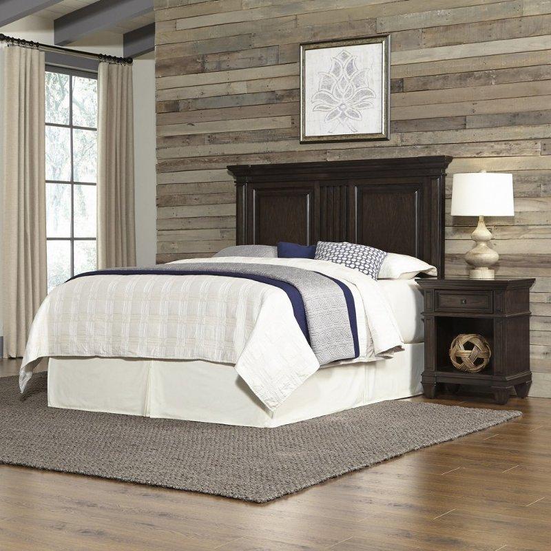 Black Oak Queen 2 Piece Bedroom Set - Prairie Home