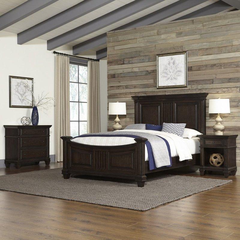 Black Oak Queen 4 Piece Bedroom Set - Prairie Home