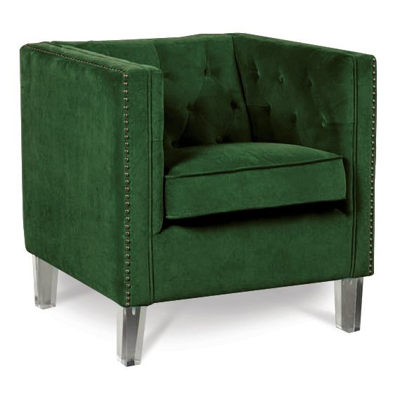 Accent Chair Jena By Emerald: Emerald Green Accent Chair - Bella