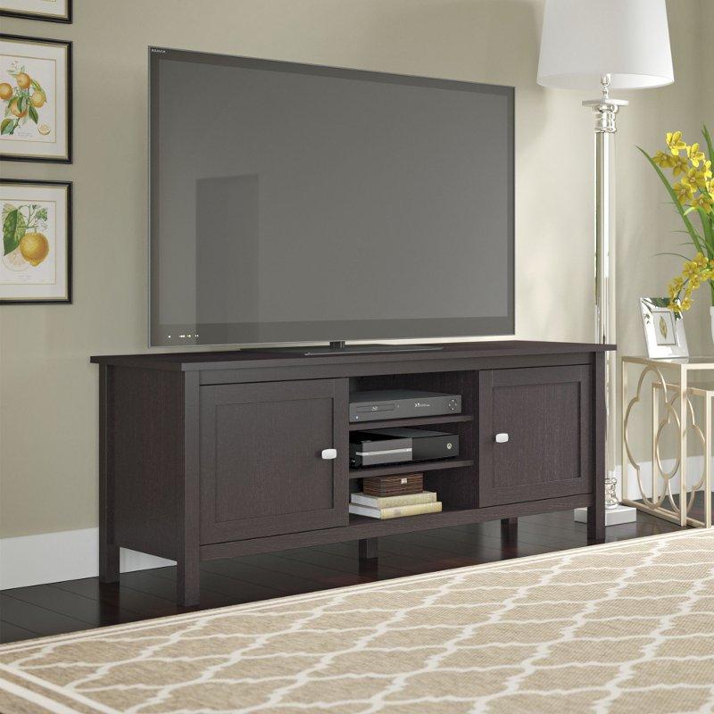 Espresso Brown Oak Modern 65 Inch Tv Stand Broadview