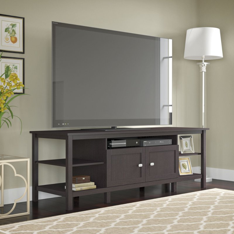 Espresso Brown Oak Modern 75 Inch Tv Stand Broadview Rc Willey